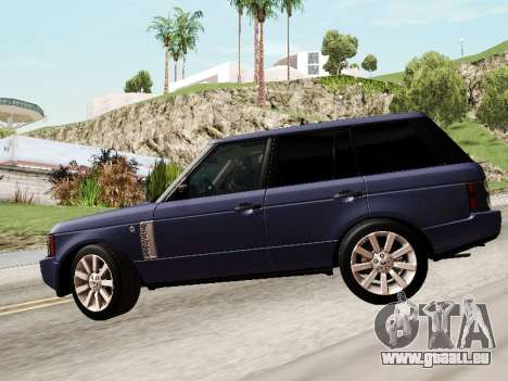 Land Rover Supercharged Stock 2010 V2.0 für GTA San Andreas obere Ansicht