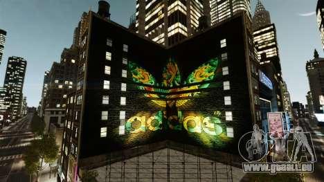 Grosse publicité Adidas Originals pour GTA 4 secondes d'écran