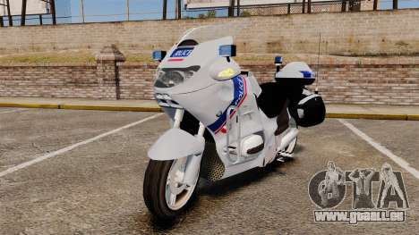BMW R1150RT Police nationale [ELS] pour GTA 4