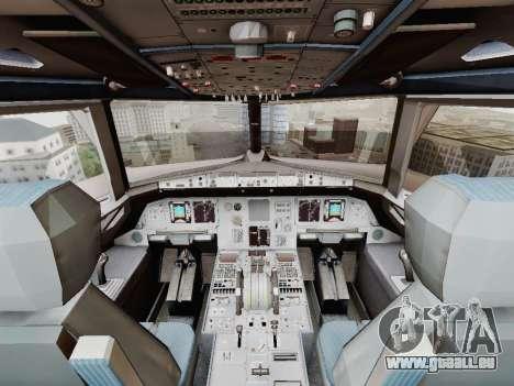 Airbus A320-211 China Eastern pour GTA San Andreas vue de dessus