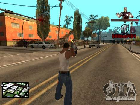 C-HUD Iron man für GTA San Andreas her Screenshot