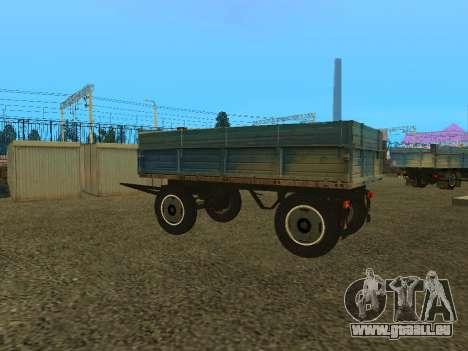Trailer für ZIL 130 für GTA San Andreas rechten Ansicht