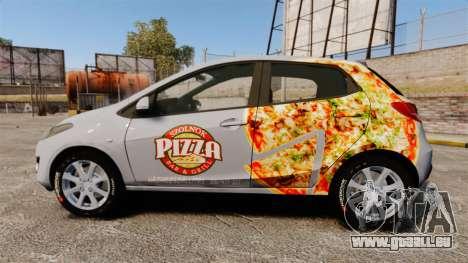 Mazda 2 Pizza Delivery 2011 pour GTA 4 est une gauche