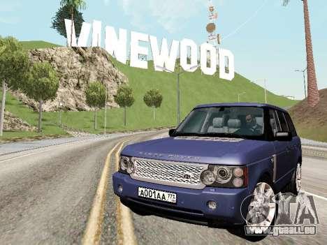 Land Rover Supercharged Stock 2010 V2.0 pour GTA San Andreas vue de côté