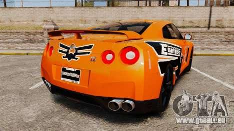 Nissan GT-R 2012 Black Edition NFS Underground pour GTA 4 Vue arrière de la gauche