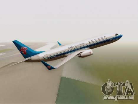 China Southern Airlines Boeing 737-800 für GTA San Andreas Rückansicht