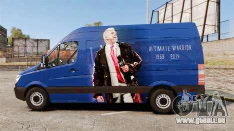Mercedes-Benz Sprinter 2011 WWE Ultimate Warrior für GTA 4 linke Ansicht