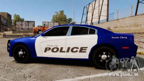 Dodge Charger 2013 LCPD [ELS] pour GTA 4 est une gauche
