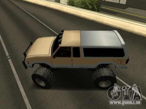 Nouveau Monstre pour GTA San Andreas vue de droite