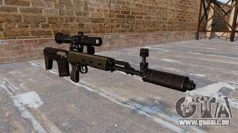 SVD Scharfschützengewehr verkürzt für GTA 4