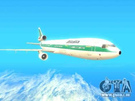 McDonnell Douglas MD-11 Alitalia pour GTA San Andreas sur la vue arrière gauche