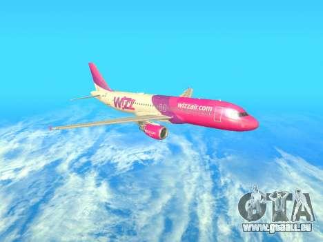 Airbus A320-200 WizzAir für GTA San Andreas Seitenansicht