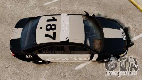 Ford Taurus LCPD Interceptor 2011 [ELS] für GTA 4 rechte Ansicht