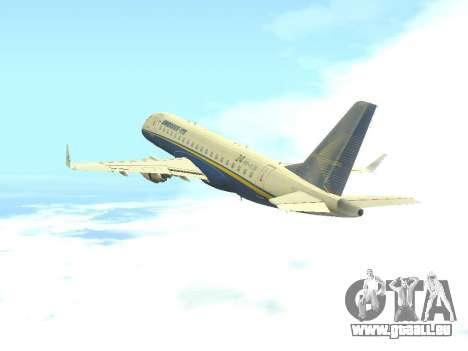 Embraer 175 HOUSE pour GTA San Andreas vue arrière