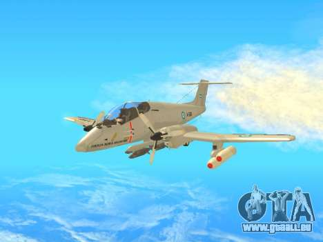 FMA IA-58 Pucara pour GTA San Andreas laissé vue