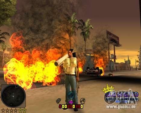 C-HUD Old Ghetto pour GTA San Andreas deuxième écran