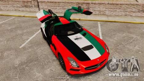 Mercedes-Benz SLS 2014 AMG UAE Theme für GTA 4 obere Ansicht