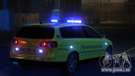 Volkswagen Passat Variant 2010 Paramedic [ELS] pour GTA 4 Vue arrière de la gauche