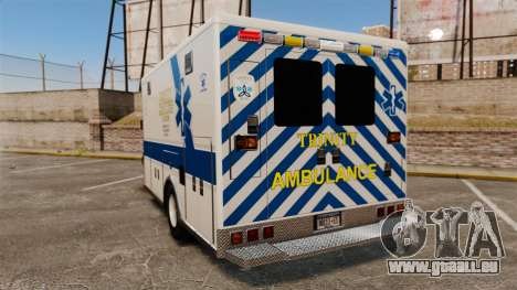 Brute Speedo TEMS Ambulance [ELS] pour GTA 4 Vue arrière de la gauche
