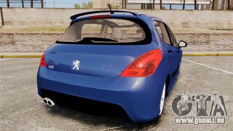 Peugeot 308 GTI für GTA 4 hinten links Ansicht