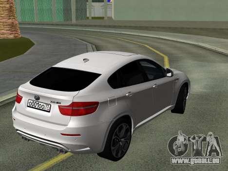 BMW X6M 2010 pour GTA San Andreas vue intérieure