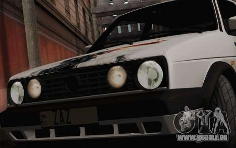 Volkswagen Golf 2 für GTA San Andreas Rückansicht