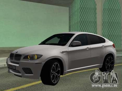 BMW X6M 2010 pour GTA San Andreas laissé vue