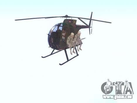 OH-6 Cayuse pour GTA San Andreas laissé vue