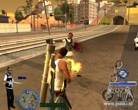 C-HUD For Police Departament pour GTA San Andreas cinquième écran