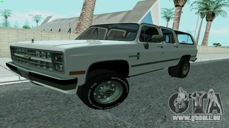 Chevrolet Suburban 2500 1986 pour GTA San Andreas