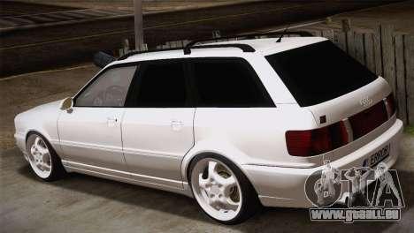 Audi RS2 Avant pour GTA San Andreas laissé vue
