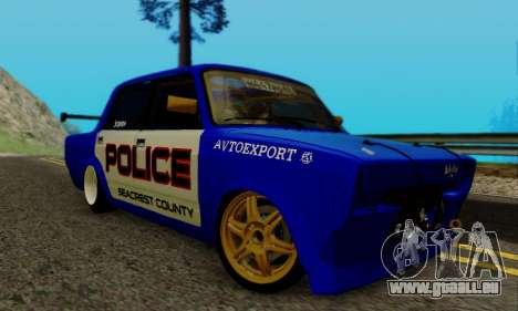 VAZ 2107 Drift für GTA San Andreas zurück linke Ansicht
