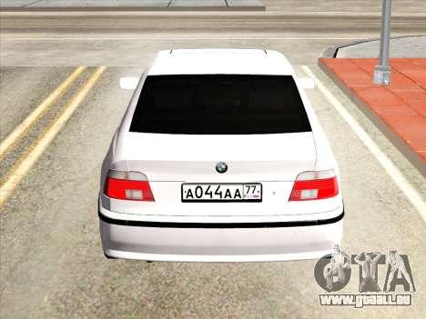 BMW 530d E39 für GTA San Andreas rechten Ansicht