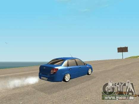 VAZ 2190 pour GTA San Andreas vue de dessous