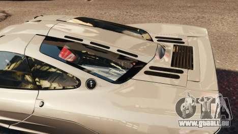 McLaren F1 XP5 für GTA 4 Innenansicht