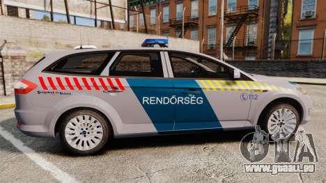 Ford Mondeo Hungarian Police [ELS] pour GTA 4 est une gauche