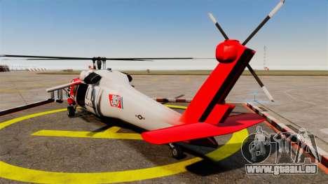 Annihilator U.S. Coast Guard HH-60 Jayhawk pour GTA 4 Vue arrière de la gauche