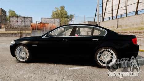 BMW M5 F10 2012 Japanese Unmarked Police [ELS] pour GTA 4 est une gauche