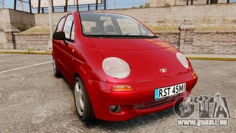 Daewoo Matiz SE 1998 pour GTA 4