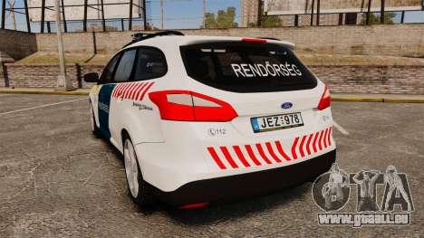 Ford Focus 2013 Hungarian Police [ELS] pour GTA 4 Vue arrière de la gauche
