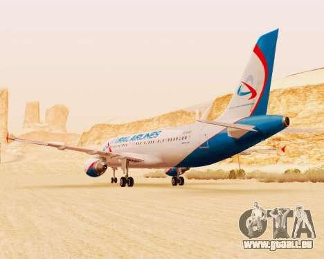 Airbus A320-200 Ural Airlines für GTA San Andreas Innenansicht