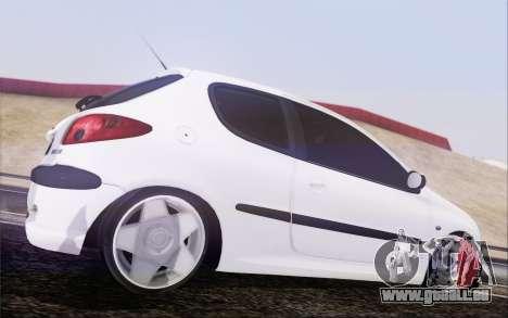 Peugeot 206 Mehmet ALAN pour GTA San Andreas laissé vue