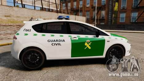 Seat Cupra Guardia Civil [ELS] für GTA 4 linke Ansicht