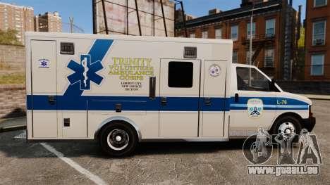 Brute Speedo TEMS Ambulance [ELS] pour GTA 4 est une gauche