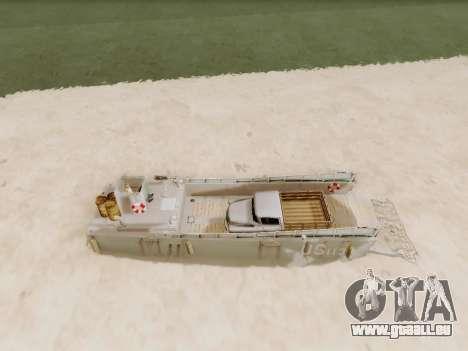 Landing Craft für GTA San Andreas Seitenansicht