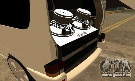 Volkswagen T4 Transporter für GTA San Andreas Seitenansicht