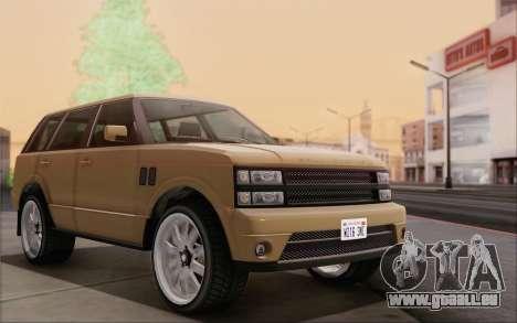 Gallivanter Baller из GTA V für GTA San Andreas zurück linke Ansicht