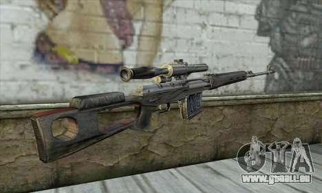 Fusil de précision à partir d'un Stalker pour GTA San Andreas deuxième écran