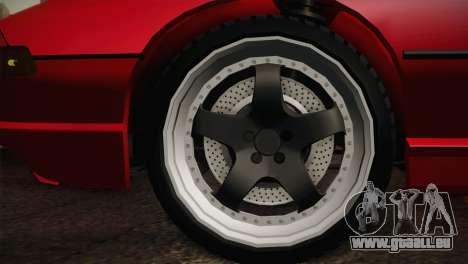 BMW M8 Custom pour GTA San Andreas sur la vue arrière gauche