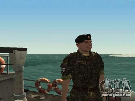 Le Corps des marines des forces armées de l'Ukra pour GTA San Andreas troisième écran